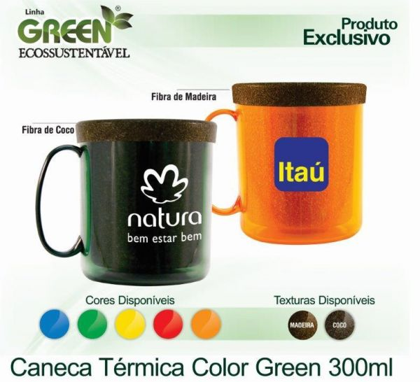 Caneca Térmica Color Green 300 mL