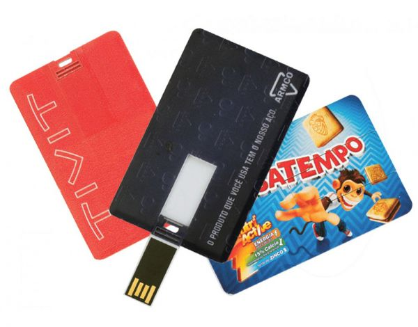 Pen drive Credit card.